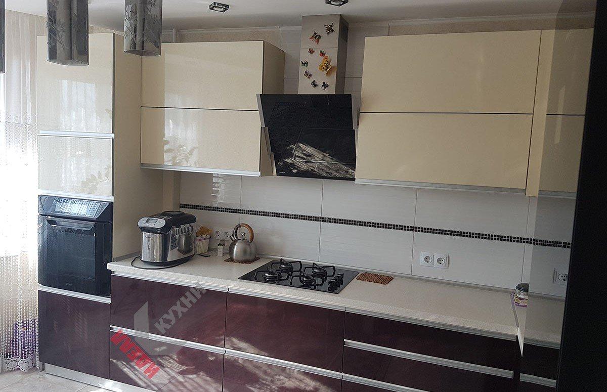 Кухня из акрила №011