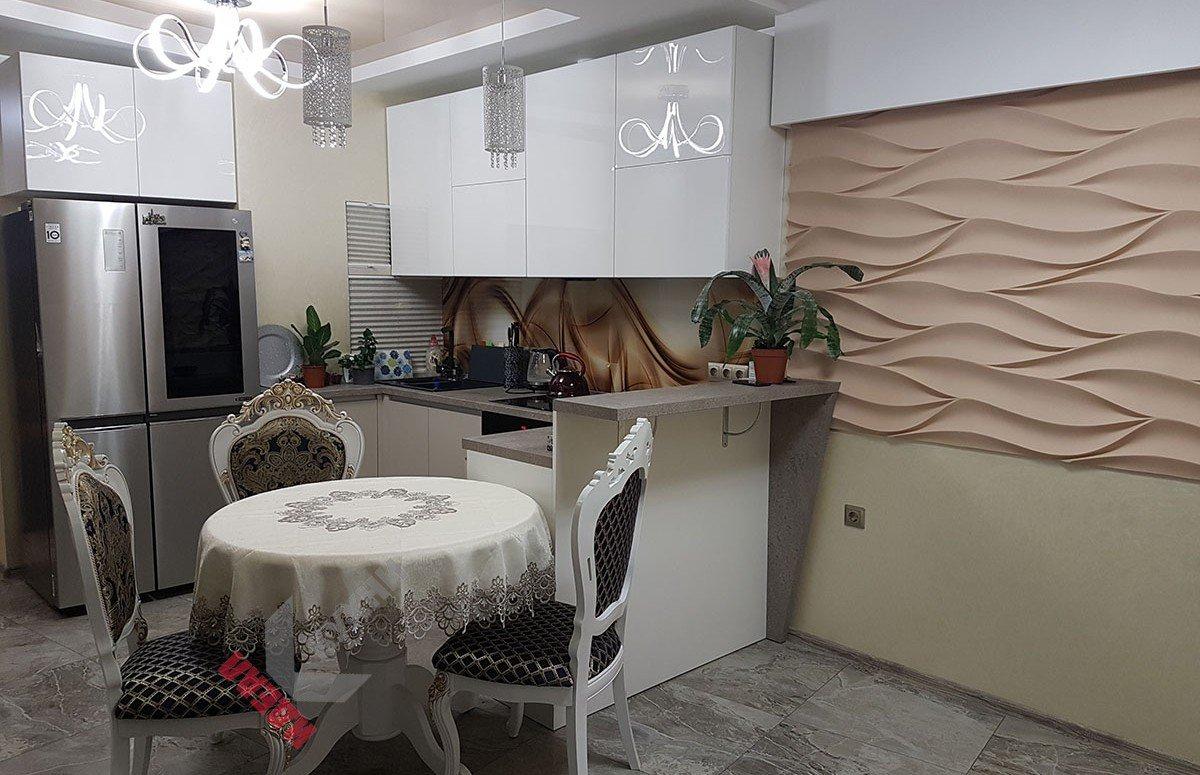 Кухня из акрила №013