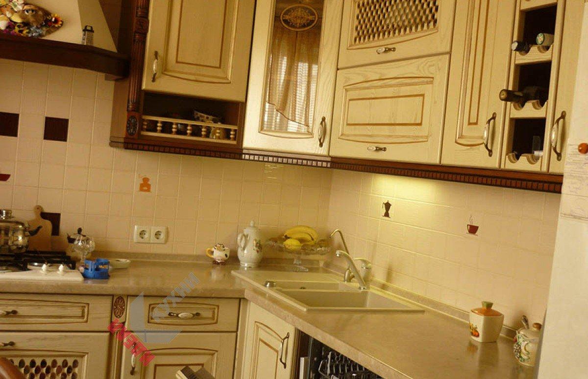 Кухня из массива №003