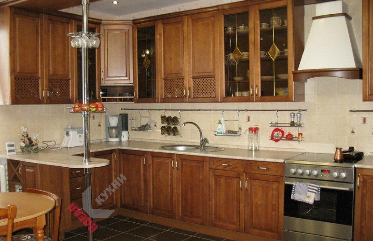 Кухня из массива №004