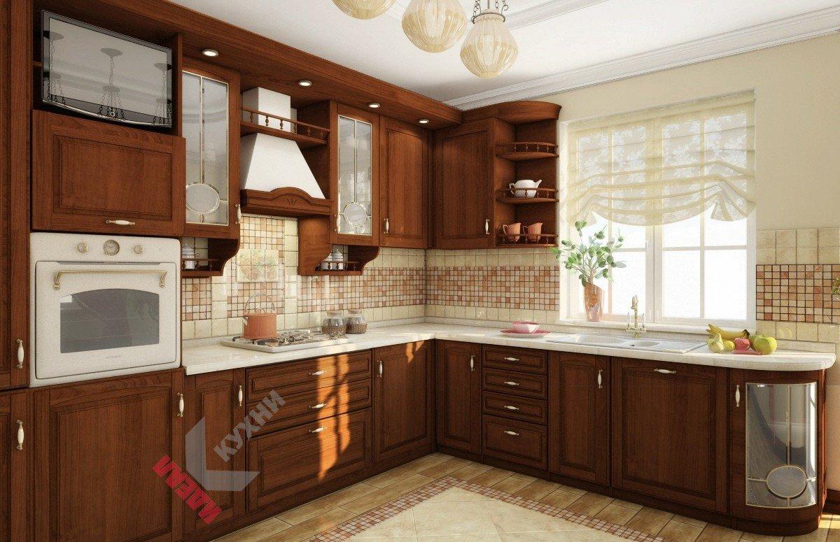 Кухня из массива №012