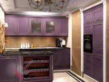 Кухня с островом №004