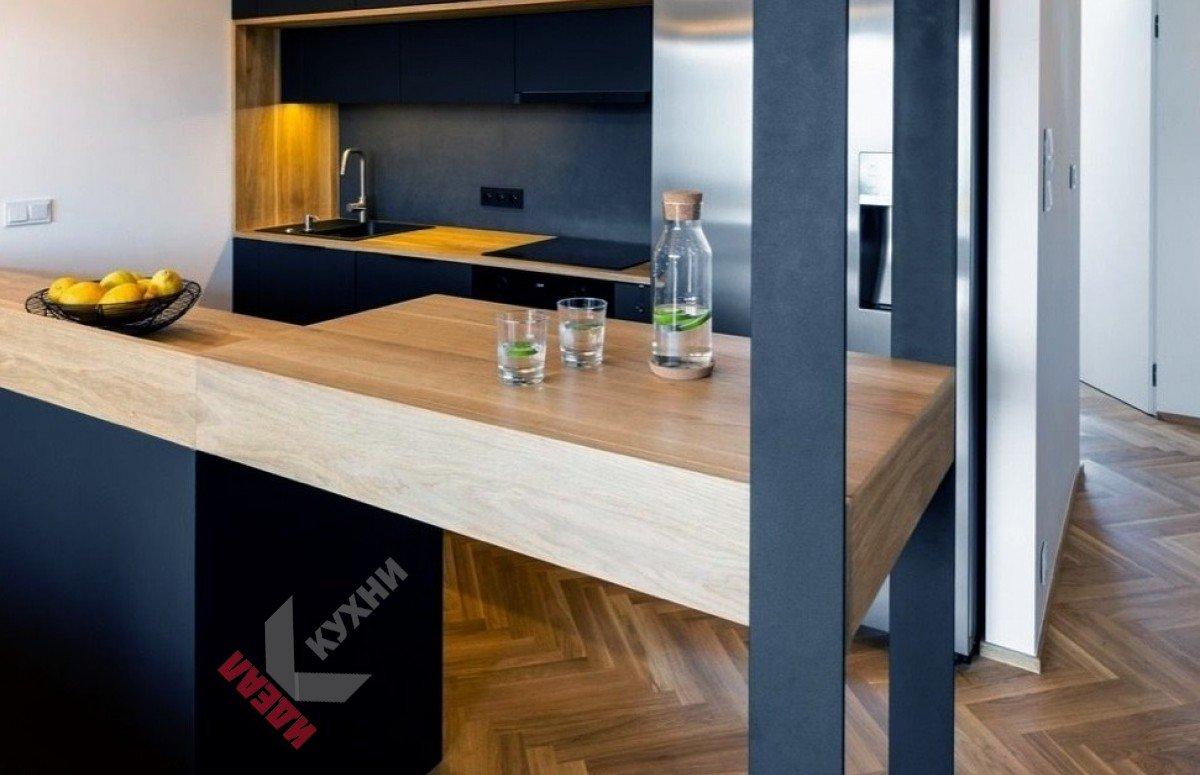 Кухня из пластика FENIX NTM №004