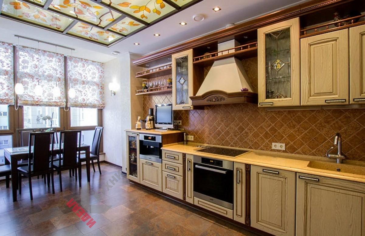 Кухня из массива ясеня №001