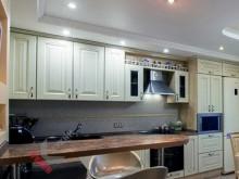 Кухня из массива ясеня №004