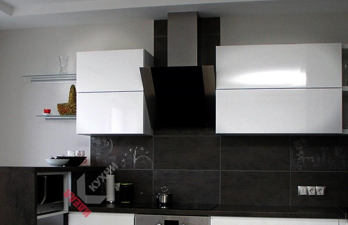 Кухня с барной стойкой №002