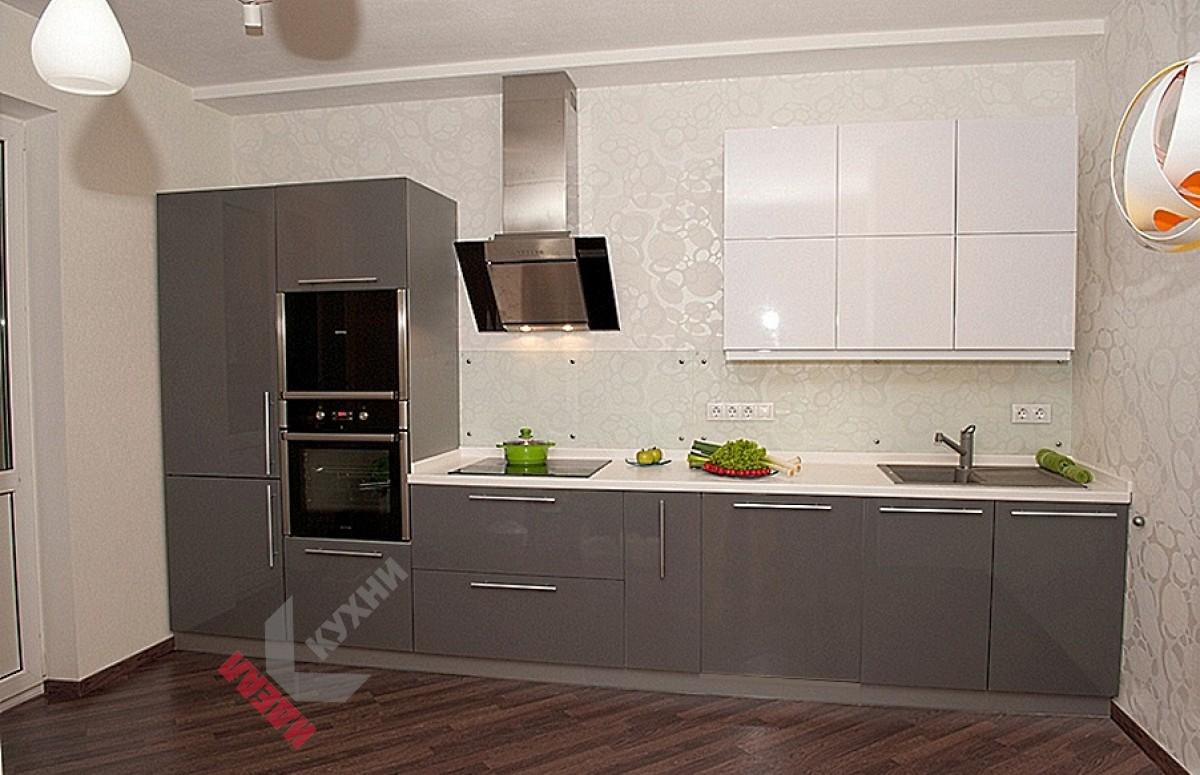 Прямая (линейная) кухня №007