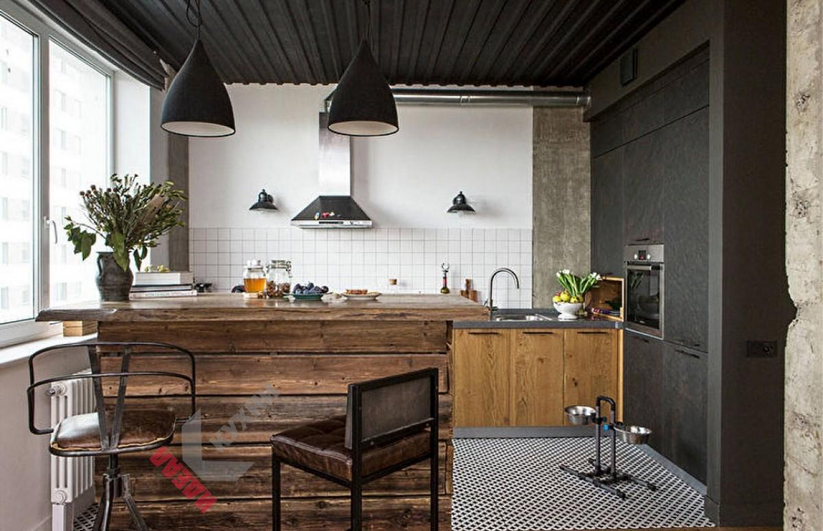 Кухня лофт №001