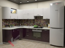 Угловая кухня №007