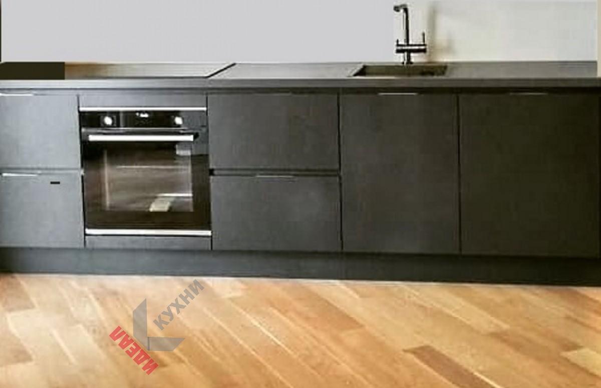 Кухня с профилем Gola №002