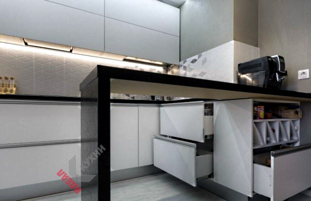 Кухня из пластика FENIX NTM №010